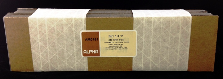 View SiC 240 GRIT STRIP  100 Pack
