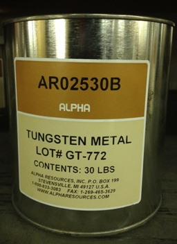 View TUNGSTEN METAL, 30 LBS, FOR US