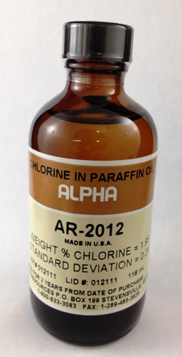 View Chlorine in Paraffin Oil (CL= 1.95%)