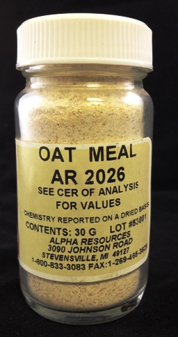 View OAT MEAL C= 41.59% H= 5.85% N=