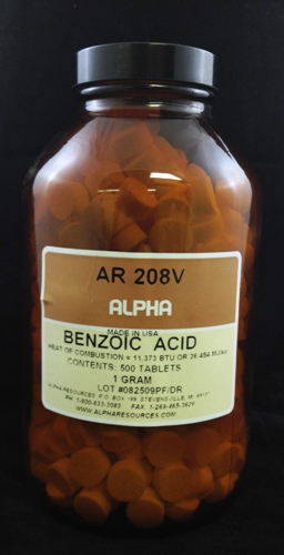 View BENZOIC ACID TABLETS  1.0 GM