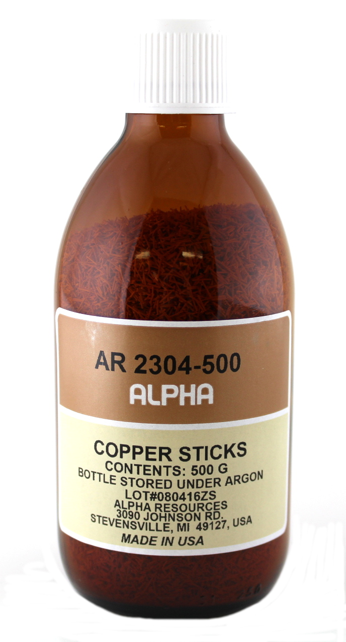 View COPPER STICKS, RESEALABLE CONT