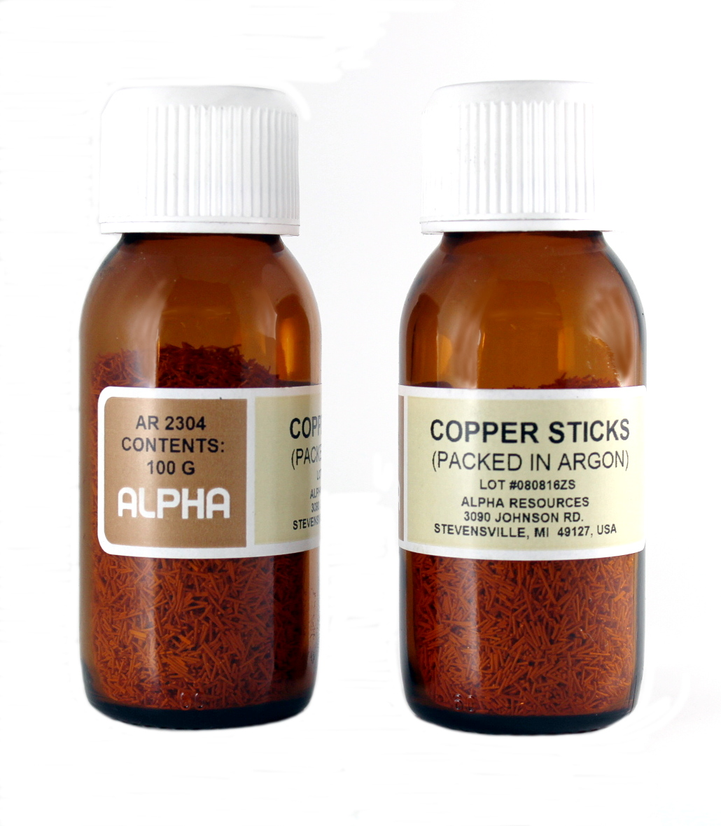 View COPPER STICKS, RESEALABLE BOTT
