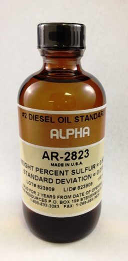 View #2 DIESEL OIL, 0 .53% S, 100ml