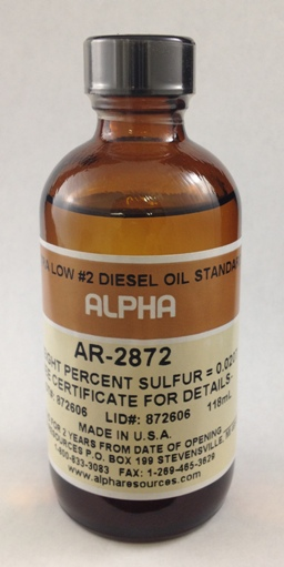 View ULTRA LOW #2 DIESEL OIL, NOMINAL VALUE .020%S, 100ml