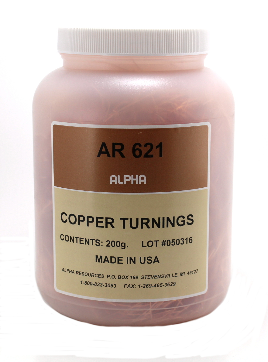 View COPPER TURNINGS, DEGASSED, 200