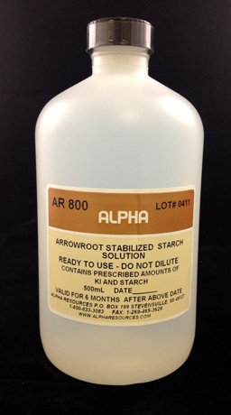View ARROWROOT STARCH SOLUTION