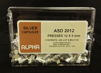 View Pressed Silver Capsule (H= 12mm, D= 6mm) - 200 Capsules Per Package