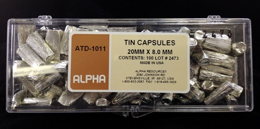 View TIN CAPSULES, 20MM X 8MM 100/P