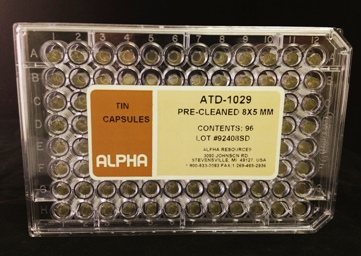 View Ultra Clean Pressed Tin Capsules (H=8mm, D=5mm)