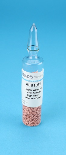 View Copper Wires for S Analysis High Purity Reduced 4 x 0.5mm