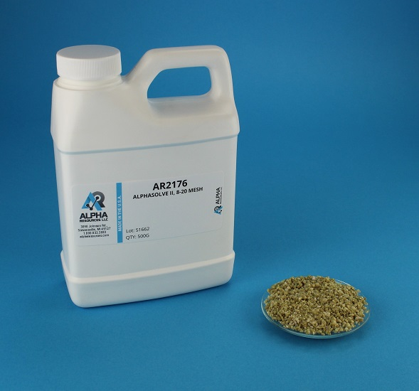 View Alphasolve II (Sodium hydroxide) - 8-20 Mesh - 500g Bottle