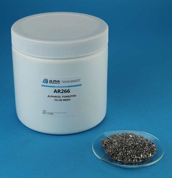 View Alphacel Tungsten, Coarse Grain,  -12+20 Mesh