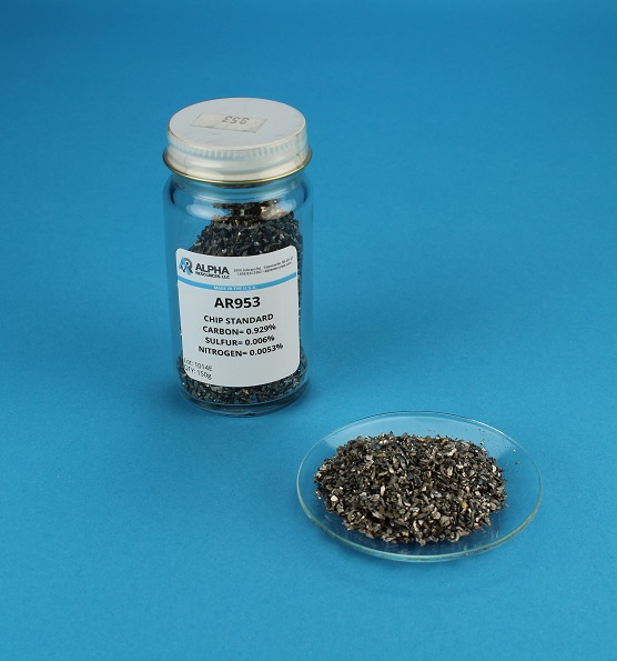 View Carbon, Sulfur and Nitrogen Steel Chip CRM (C= 0.953%, S= 0.0026%, N= 0.0081%)