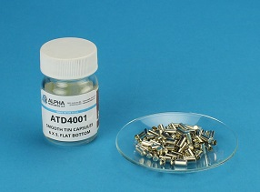 View Smooth Wall Tin Capsules (H=6mm, D=3mm)