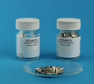 View Smooth Wall Tin Capsule (H=4.5mm, D=2mm) Flat Bottom